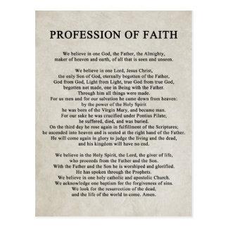 Profession of Faith Postcard