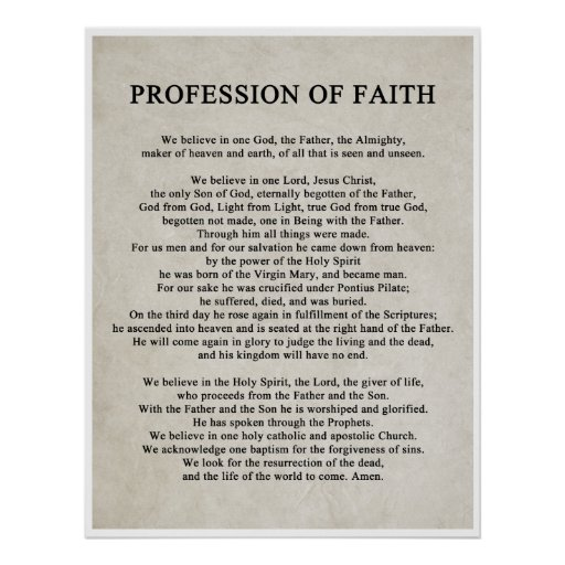 Profession of Faith Poster