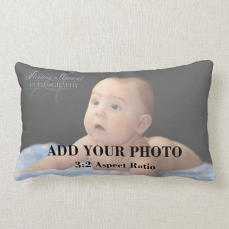 Professional 3x2 Aspect Ratio Photo Template Lumbar Cushion