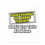 Professional 4th Grade Teacher...Joke Post Cards