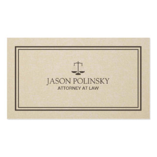 Professional and Modern Attorney Pack Of Standard Business Cards