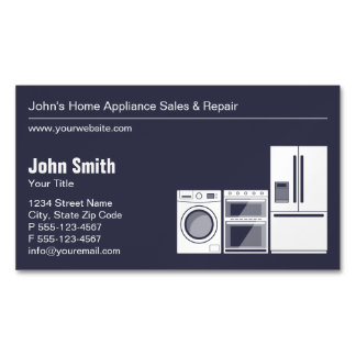 Professional Appliance Repair, Service and Sale Magnetic Business Cards
