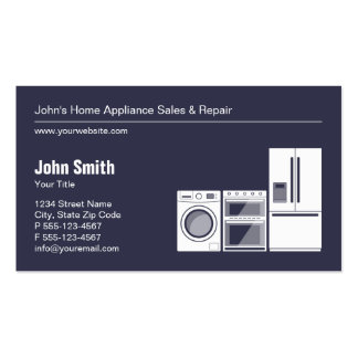 Professional Appliance Repair, Service and Sale Pack Of Standard Business Cards