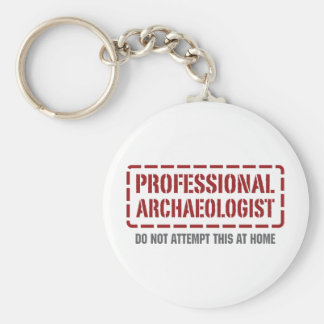 Professional Archaeologist Basic Round Button Key Ring