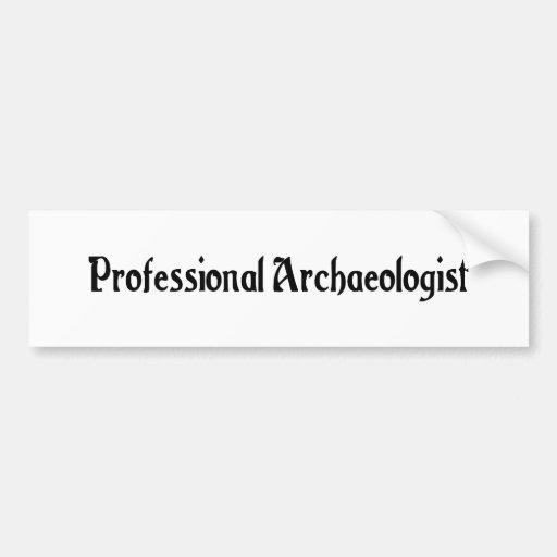 Professional Archaeologist Bumper Sticker