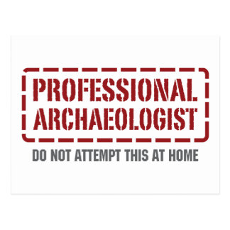 Professional Archaeologist Post Card