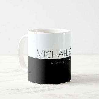 professional (architect) half-black half-white coffee mug