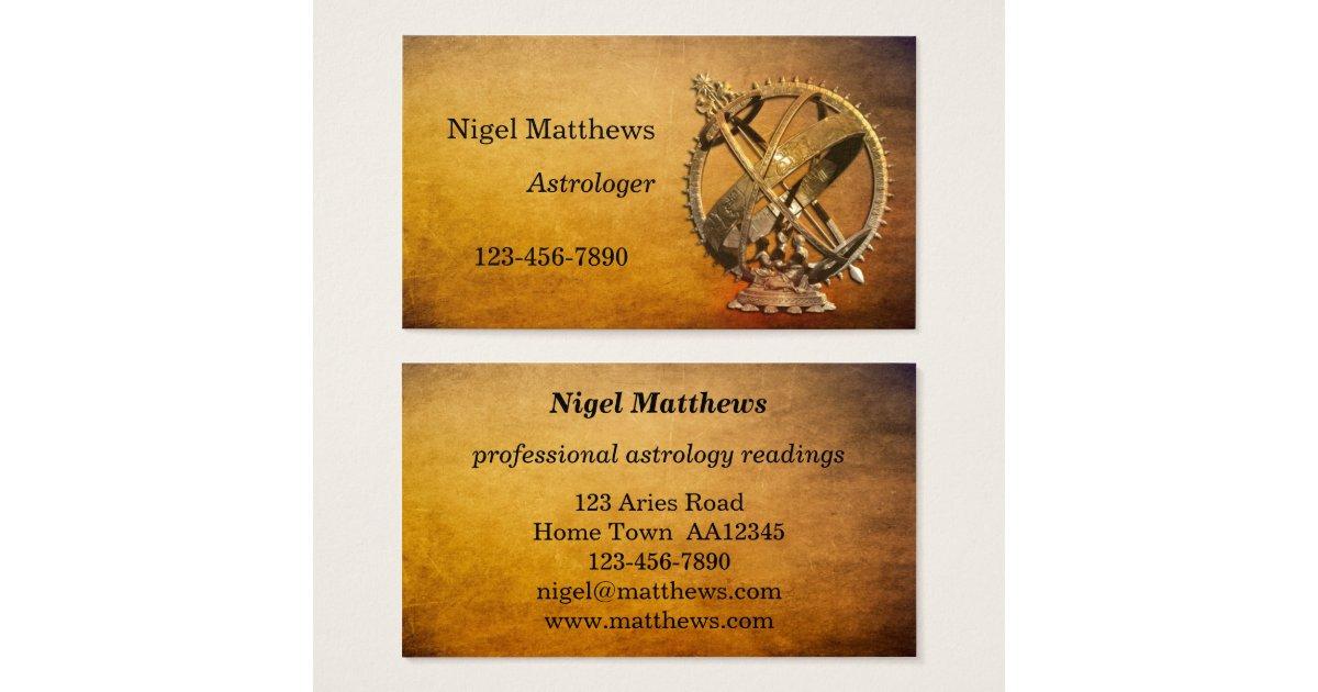 Professional Astrologer Business Card | Zazzle.co.uk