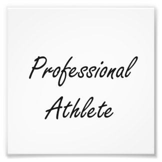 Professional Athlete Artistic Job Design Photographic Print