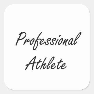 Professional Athlete Artistic Job Design Square Sticker