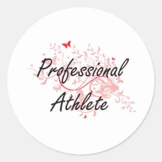 Professional Athlete Artistic Job Design with Butt Round Sticker