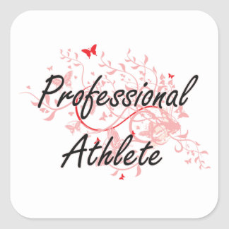 Professional Athlete Artistic Job Design with Butt Square Sticker