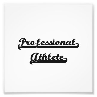Professional Athlete Classic Job Design Art Photo