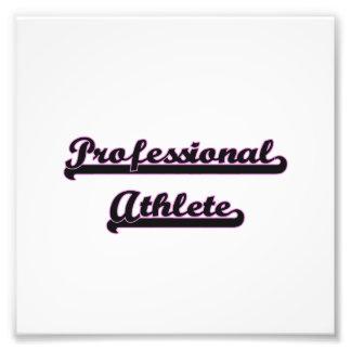 Professional Athlete Classic Job Design Photo Print