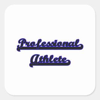 Professional Athlete Classic Job Design Square Sticker