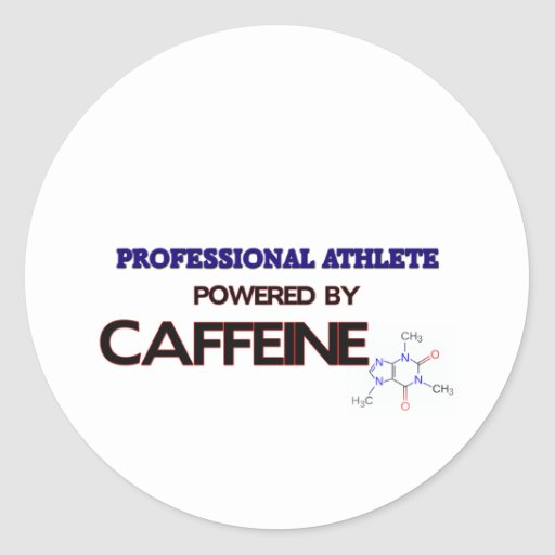 Professional Athlete Powered by caffeine Sticker