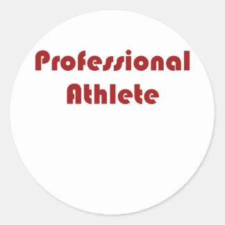 Professional Athlete Round Sticker