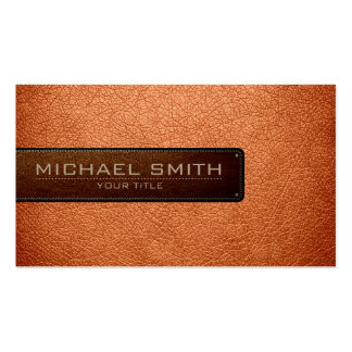 Professional Atomic tangerine Leather Look Pack Of Standard Business Cards