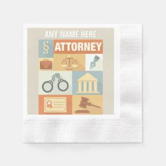 Professional Attorney Iconic Designed Disposable Serviette