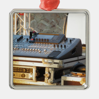 Professional audio mixing console christmas ornament