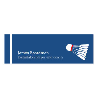 Professional badminton coach business cards
