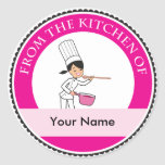 Professional Bakery Cook Chef Jar Custom Label