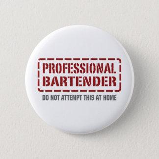 Professional Bartender 6 Cm Round Badge