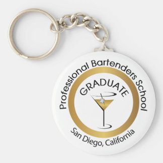 Professional Bartender School Key Chain