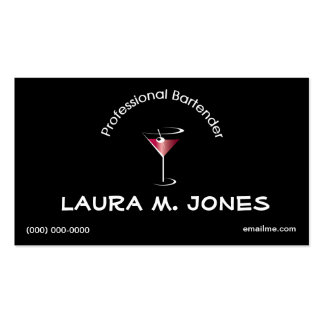 Professional Bartenders Business Card