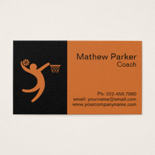 Basketball coach business cards business card printing zazzle uk professional basketball coach business card colourmoves