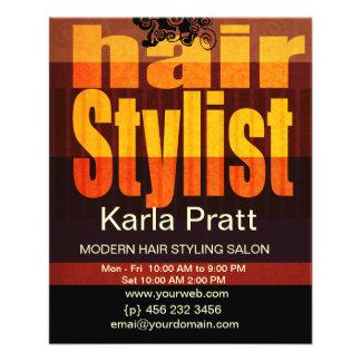 Professional Beauty Salon Spa Hairstylist 11.5 Cm X 14 Cm Flyer