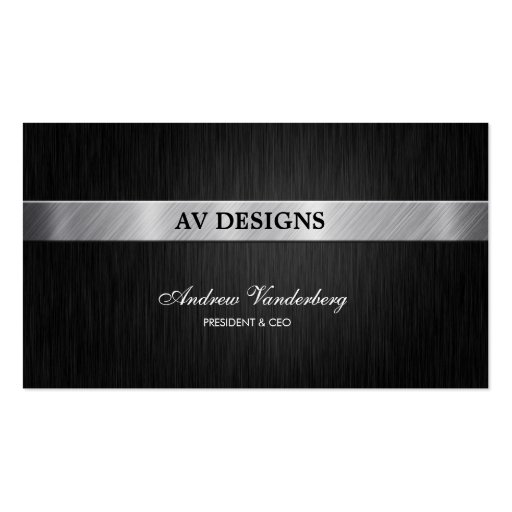 Professional Black and Silver Business Card