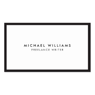 Professional Black and White Business Card Pack Of Standard Business Cards