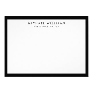 Professional Black and White Flat Note Card 11 Cm X 16 Cm Invitation Card