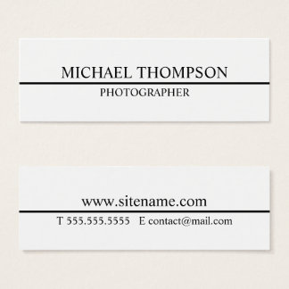 Professional Black and White Mini Business Card