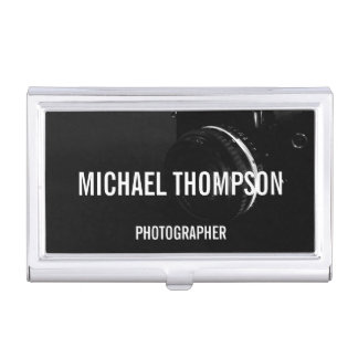 Professional Black and White Photography Case For Business Cards