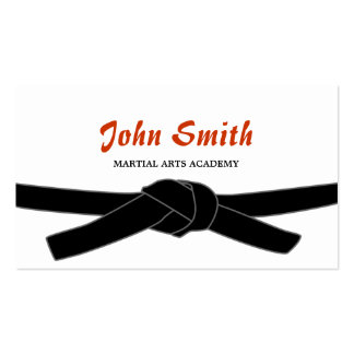 Professional Black Belt Martial Arts Business Card