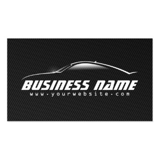 Professional Black Carbon Fiber Car Business Card