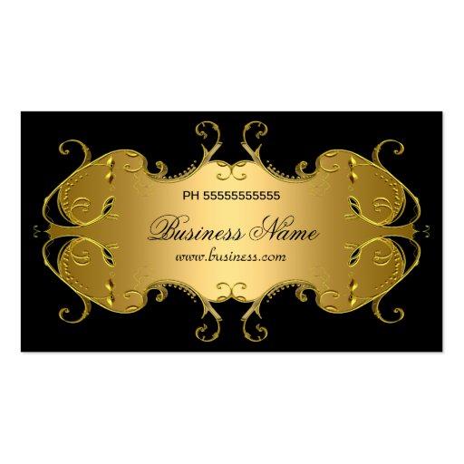 Professional Black Gold Elegant Business Business Cards