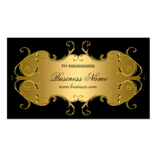Professional Black Gold Elegant Business Pack Of Standard Business Cards