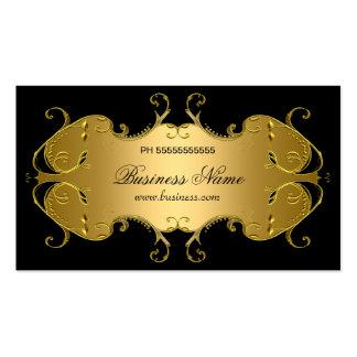 Professional Black Gold Elegant Business Pack Of Standard Business Cards