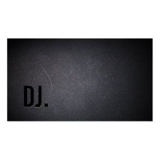 Professional Black Out DJ Business Card
