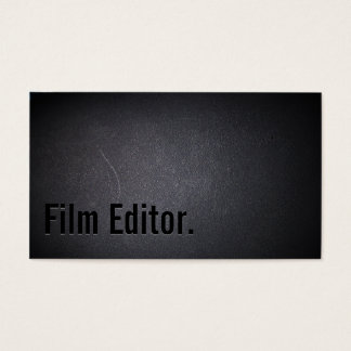 Professional Black Out Film Editor Business Card