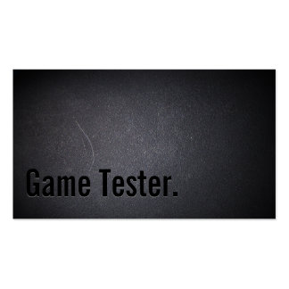 Professional Black Out Game Testing Business Card