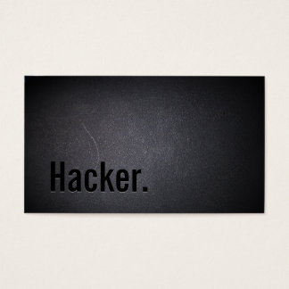 Professional Black Out Hacker Business Card