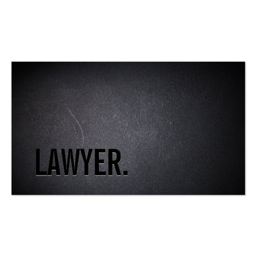 Professional Black Out Lawyer Business Card