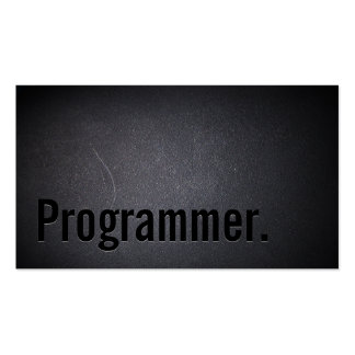 Professional Black Out Programmer Business Card