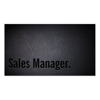 Professional Black Out Sales Manager Business Card