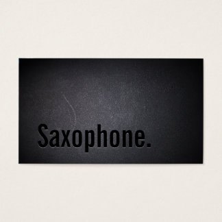 Professional Black Out Saxophone Business Card