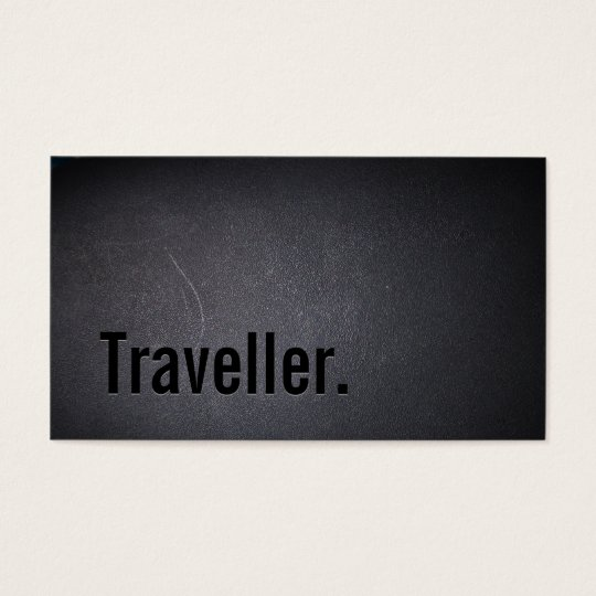Professional Black Out Traveller Business Card